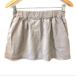 4/$25 Zara Woman Gray Elastic Waist Mini Skirt XS